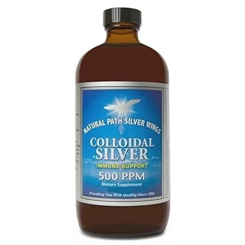 Image of Health and Household Colloidal Silver 500 PPM Natural Path Silver Wings 32 fl oz Liquid