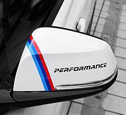 M Performance 2 Black Rear View Mirror Vinyl Stickers