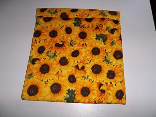 Microwave Potato Bag Yellow Sunflowers Large All Cotton Baked Potato Bag Handmade Kitchen Utensil