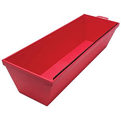 QLT By MARSHALLTOWN 914 12-Inch Red Plastic Mud Pan