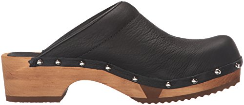 Sanita Dames Wood-yanini Basic Flex Open Mule Zwart