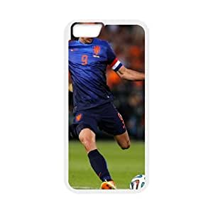 iPhone 6 Plus 5.5 Inch Cell Phone Case White Van Persie Scored The Only Goal Of The Match To Give His Country The Win JSK890474