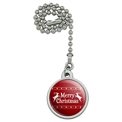 GRAPHICS & MORE Merry Christmas Holiday Reindeer Ceiling Fan and Light Pull Chain
