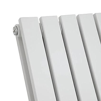 Termosifone con Finitura Antracite Design a Colonna Piatta Hudson Reed Sloane Radiatore Termoarredo di Design Verticale Moderno Riscaldamento ad Acqua Calda 1780 x 354mm 1448W