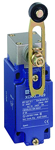 (Telemecanique XCKJ OsiSense XC Standard Limit Switch, SPDT Contacts, Non-Plug in, Rotary Head, Adjustable Delrin Roller, 1/2
