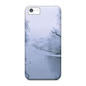 XiFu*MeiConnieJCole NtTpxSC902TFZta Case For iphone 6 4.7 inch With Nice Ice Winter Snow Cold Frozen Rivers AppearanceXiFu*Mei