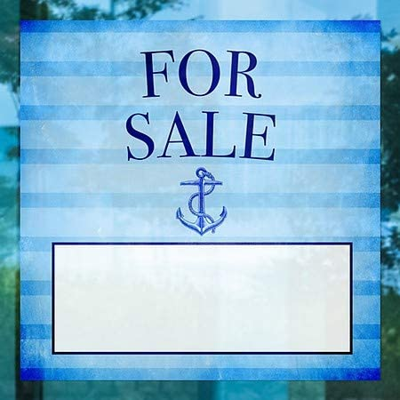12x12 for Sale 5-Pack CGSignLab Nautical Stripes Window Cling