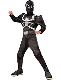 Rubies Costume Spider-Man Ultimate Deluxe Child Agent Venom Deluxe Costume, Large