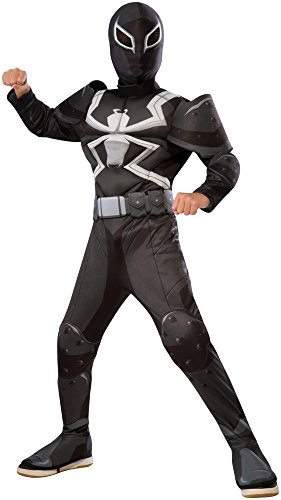 Rubie's Costume Spider-Man Ultimate Deluxe Child Agent Venom Deluxe Costume, Medium (Super Villain Costumes For Men)