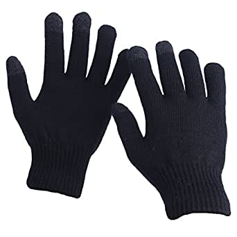 EvridWear Unisex Merino Wool Winter Gloves, Smartphone Touch Screen Gloves for Men & Women (2 Pairs, Black)