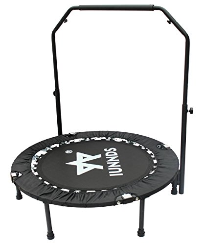 "KLB Sport 40"" Mini Foldable Trampoline with Adjustable Handrail for 5+ Child kids, Fitness Trampoline for Adult by KLB Sport"