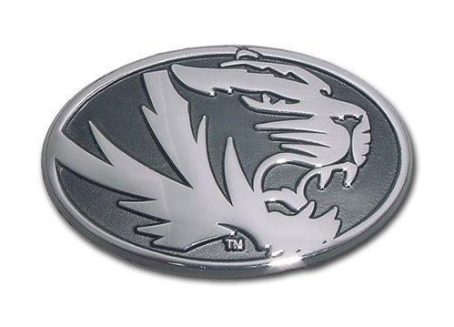 Missouri Tigers Premier Chrome Oval Metal Auto Emblem