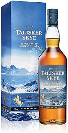 Se produce en la destilería más antigua de la isla de Skye,Equilibrado y agradable, con una vibrante