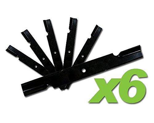 MowerPartsGroup (6) Hi Lift Blades Replace Bad Boy 038-0005-00 fits 54