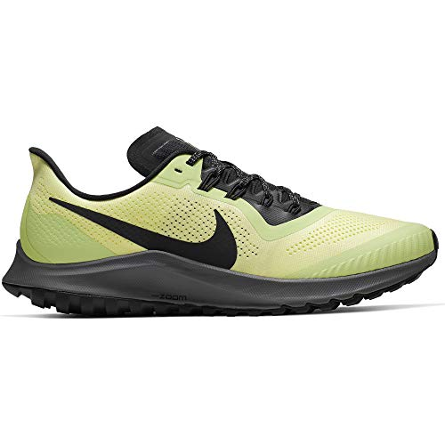 Nike Air Zoom Pegasus 36 Trail Men's Running Shoe Luminous Green/Burgundy ASH-Black Size 12.0