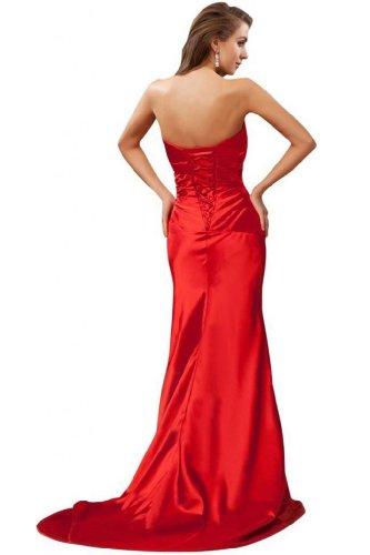 sirena in abiti senza Rosso Sunvary da spalline stile elegante sera per FqHWZw