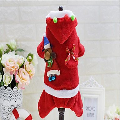 Red L Red L Y-Hui Dog Clothes Jumpsuit Dog Clothes Party Christmas Christmas Ruby,L,Red