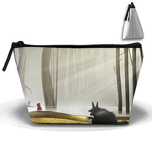 Trapezoidal Strorege Bag Travel Bag Red Riding Hood Cosmetic Bag Portable Travel Makeup Bag -
