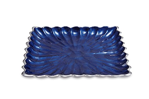 Julia Knight 7970046 Peony Collection 9'' Square Tray One Size Sapphire by Julia Knight (Image #1)