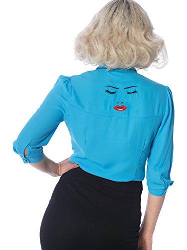 Uni Days 3 Femme Chemisier Manches Dancing 4 Bleu wAZF4EFq