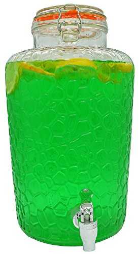 Palais Glassware Clear Glass Beverage Dispenser with Bail &