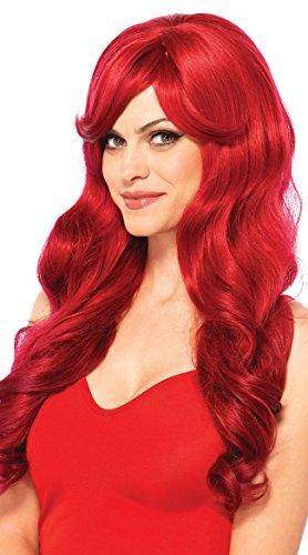 Leg Avenue Women's Long Wavy Wig, Red, One Size for $<!--$13.98-->