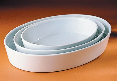Pillivuyt Porcelain 3-1/2-Quart, 14-1/2-by-10-1/2-by-2-1/8-Inch Deep Oval Baker