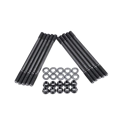 Emily ARP Head Stud Kit for Ford 6.0L 2003-2007 Powerstroke Diesel F250 F350 F450 Black