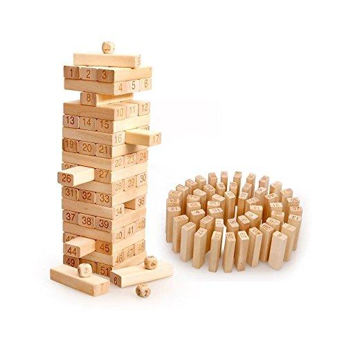 Kayiyasu カイヤス 大人 ジェンガ パーティーゲーム 知育おもちゃ テーブルゲーム 数字 組み立てる 積み木 子ども 021-lzgy-d131(8*8*29cm 約1000g )の商品画像