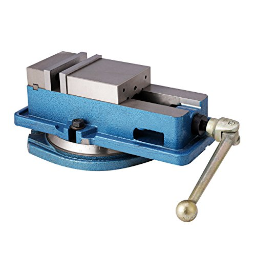 BEAMNOVA Milling Machine Lockdown Vise For Drill Press 4 Inch Worktable Handle Metal Benchtop 360 Degree Swiveling Base ()