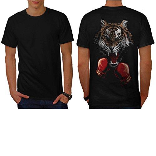 Tiger Box Fighter Roar Combat Men NEW M T-shirt Back | Wellcoda