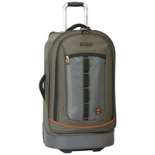 (Timberland Wheeled Duffle Bag - 26 Inch Lightweight Rolling Luggage Travel Bag Suitcase for Men, Burnt)