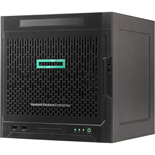 (HPE 873830-S01 ProLiant MicroServer Gen10 Ultra Micro Tower Server 1 x AMD Opteron X3216 Dual-core (2 Core) 1.6GHz 8GB Installed DDR4 SDRAM Serial ATA/600 Controller 0, 1, 10 RAID Levels - 1 x 200 W)