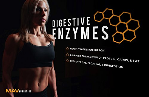 Digestive Enzymes + Probiotics Supplement Designed to Decrease Bloating and Flatulence with Protease Enzyme, Bromelain, and Lactase; Digestion Aid with Three Powerful Strains of Bacteria; NON-GMO by MAV Nutrition (Image #6)