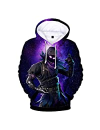 JIEFEIZHL Younth Girl Boy 3D Game Printed Sports Sweatshirt with Pockets