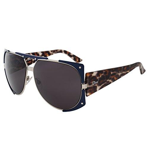 59dbf30e0b95 Dior Women s Dior Enigmatic Palladium   Blue   Leopard Frame Grey Lens  Metal Sunglasses  Amazon.co.uk  Clothing