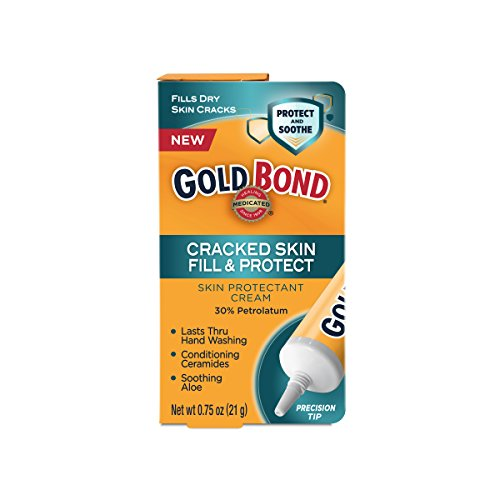 Cracked Skin Relief Cream - Gold Bond Medicated Cracked Skin Fill & Protect .75oz (Pack of 2)
