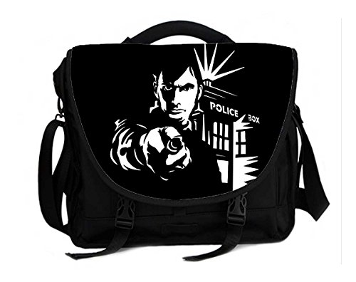 15 Inch Laptop / Notebook Shoulder Messenger Bag Briefcase- Doctor Who David Tennant Print