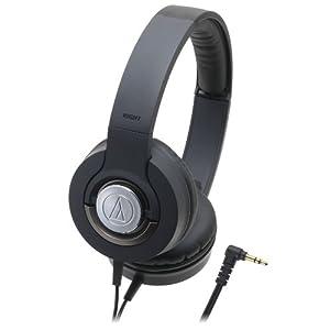 audio-technica SOLID BASS 密閉型オンイヤーヘッドホン ポータブル ブラック ATH-WS33X BK