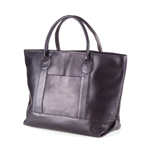 (Clava Leather Vachetta Nantucket Tote in Cafe)