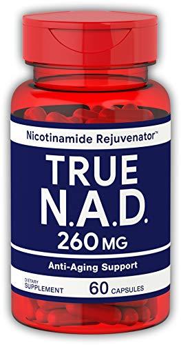 True NAD 260 mg 60 Capsules | Nicotinamide Rejuvenator Anti Aging Support | Non-GMO, Gluten Free Supplement ()