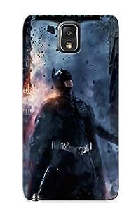 Flexible Back Case Cover For Galaxy Note 3 - Batman Movies Film Batman The Dark Knight Rises Cities