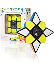 CUBIDI® 3 x 3 x 1 kubus en spinner in één - Star Brainteaser voor kinderen en volwassenen - Fidget Toy