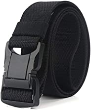 QAZSE Quick Release Mens Belt Nylon Tactical Military Style 1.5 inch Wide Heavy Duty Webbing Belts with Durabl