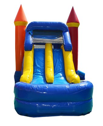 Rainbow Bounce House (Rainbow Single Lane 28-Foot Long by 14-Foot Wide by 15-Foot High Bounce House Heavy Duty Commercial Vinyl Inflatable, Wet or Dry Water Slide Combo Bundle)