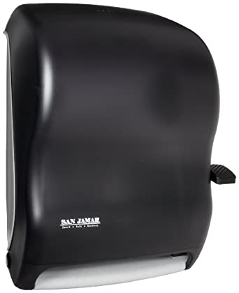 san jamar t1100tbk black pearl lever roll towel dispenser without auto transfer - San Jamar