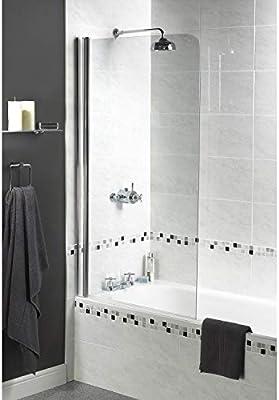 Aqualux 1160104 - Mampara de ducha (tamaño: 1850x850cm): Amazon.es: Bricolaje y herramientas