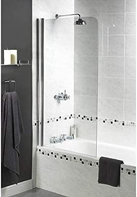 Aqualux 1160104 - Mampara de ducha (tamaño: 1850x850cm): Amazon.es ...