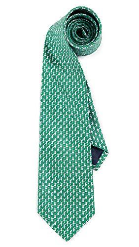 (Salvatore Ferragamo Men's Drink Print Tie, Green, One Size )