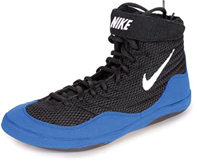 Amazon.com | Nike Mens Inflict Wrestling Shoe, Black/Sport Royal/White, Size 9 | Wrestling